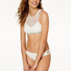 Roxy Surf Memory High Neck Crochet Bikini L